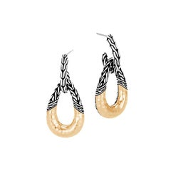 John Hardy Classic Chain Hammered Door Knocker Earring EZ94554
