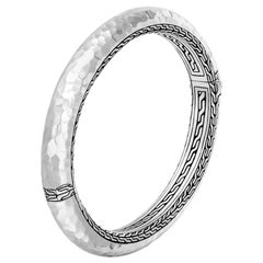 John Hardy Classic Chain Hammered Hinged Bangle BB999573XM