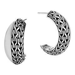 John Hardy Classic Chain Knife Edge Extra Small Hoop Earring EB90494