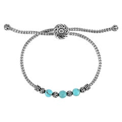John Hardy Classic Chain Pull Through Bracelet with Turquoise BBS900008TQXM-L