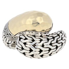 John Hardy Classic Chain Ring, Sterling and 1/3 18 Karat Gold Statement Bypass