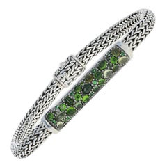 John Hardy Classic Chain Station Green Tourmaline Bracelet Sterling 925