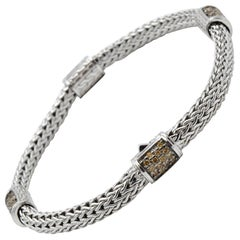 John Hardy Classic Chain XS Garnet Station Bracelet BBS9694MGXM