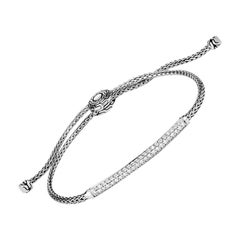 John Hardy Classic Station Pull Through Bracelet with Diamond BBP901192DIXM-L