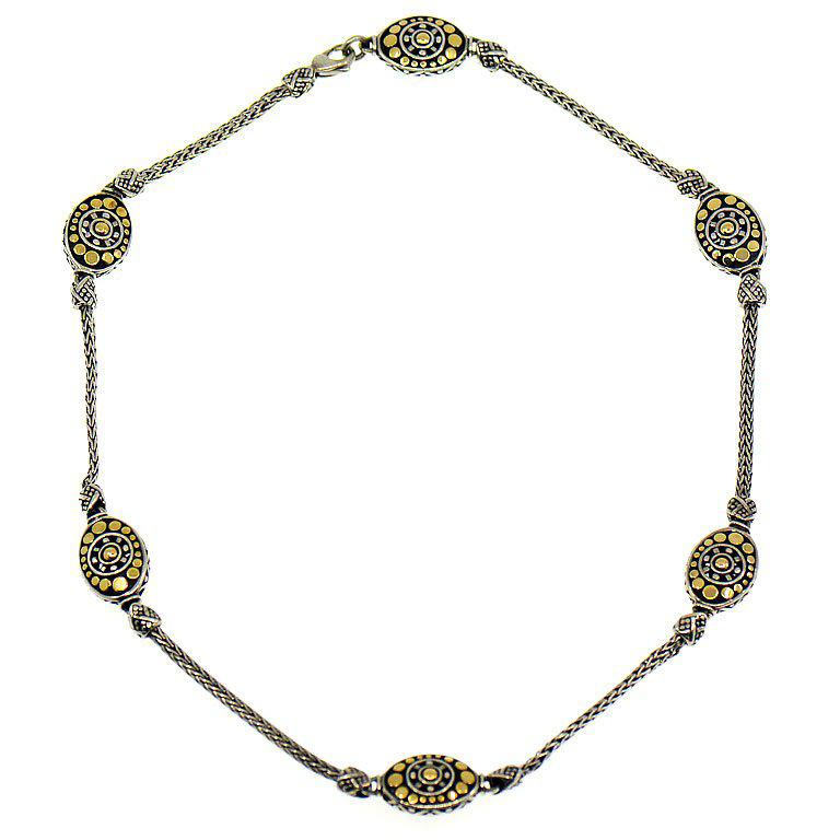 John Hardy Dot Collection Necklace, Sterling Silver and 18 Karat Yellow Gold