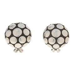 John Hardy Dot Earrings, Sterling Silver Large Pierced Button Studs