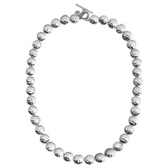 John Hardy Dot Hammered Link Necklace NB7233X18