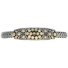 John Hardy Dot Jaisalmer Oval Station Bracelet Sterling and 1/3 18 Karat Gold
