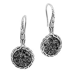 John Hardy Drop Earring with Black Sapphire, Black Spinel EBS903944BLSBN