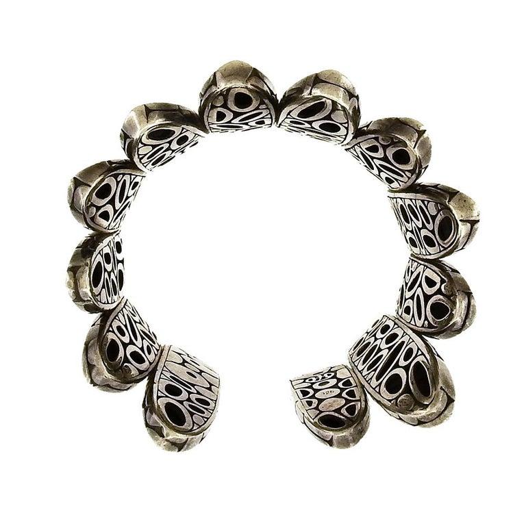 John Hardy Flex Kali Spike Cuff Bracelet In Good Condition For Sale In New York, NY