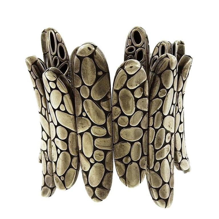 Women's or Men's John Hardy Flex Kali Spike Cuff Bracelet For Sale