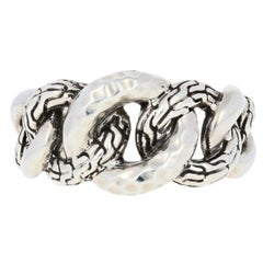 John Hardy Hammered Classic Chain Band, Sterling Silver Women's Ring