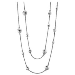 John Hardy Hammered Station Necklace NB7151X18
