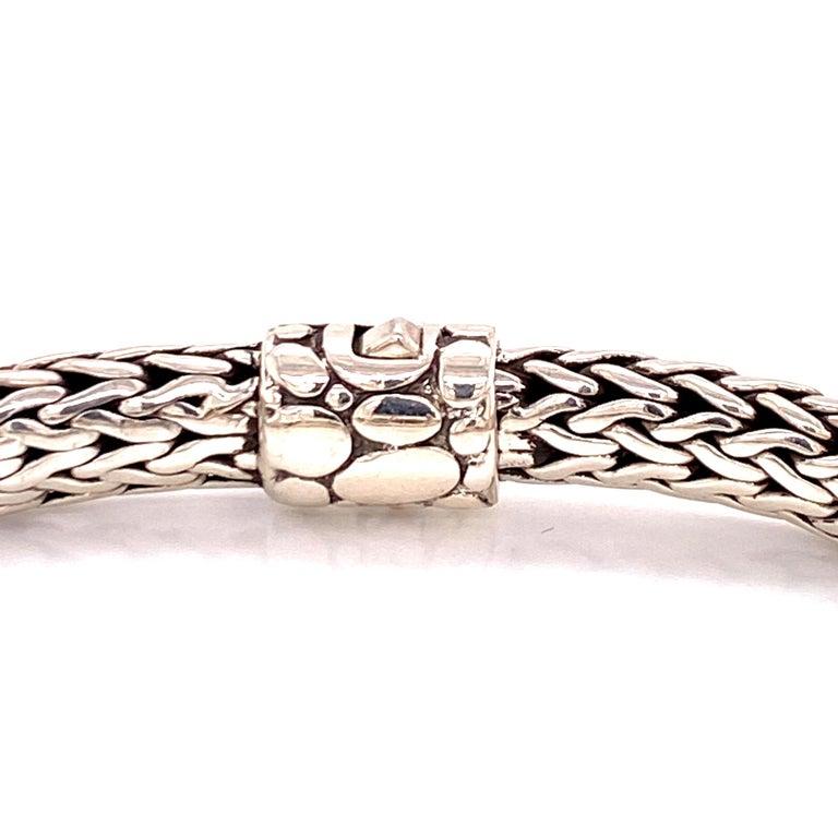 Modern John Hardy Kali Men's ID Style Bracelet Sterling Silver For Sale