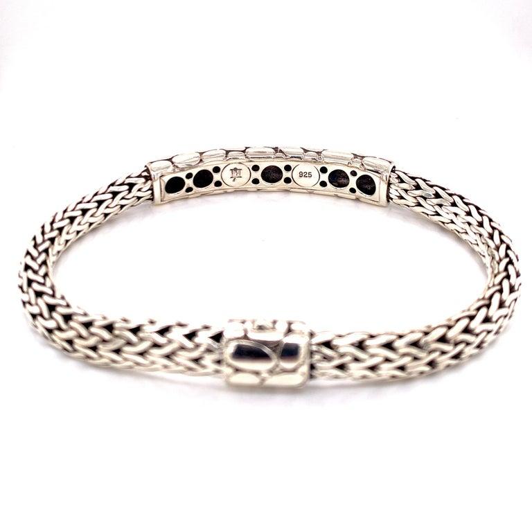 John Hardy Kali Men's ID Style Bracelet Sterling Silver In Excellent Condition For Sale In Boca Raton, FL