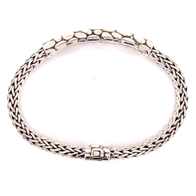 Women's or Men's John Hardy Kali Men's ID Style Bracelet Sterling Silver For Sale