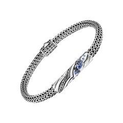 John Hardy Lahar Blue Sapphire Station Bracelet