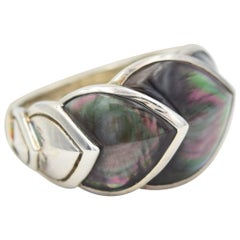 John Hardy Legends Naga Mother of Pearl Dragon Scale Ring, RBS66475GMOPX7