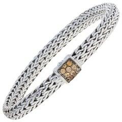 John Hardy Mandarin Garnet Classic Chain Bracelet Sterling Designer