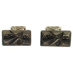 John Hardy Men's Classic Chain Black Sapphire Cufflinks