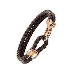John Hardy Men's Classic Chain Bronze Hook Station Bracelet BMOZ99435BRXM