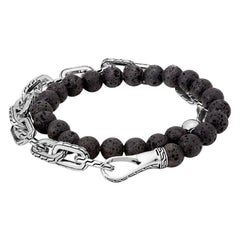 John Hardy Men's Classic Chain Silver Double Wrap Bracelet BMS946581VOXM