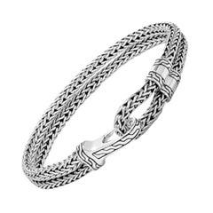 John Hardy Men's Classic Chain Silver Hook Station Bracelet BM97123XM