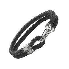 John Hardy Men's Classic Chain Silver Hook Station Bracelet BM99435BLXM