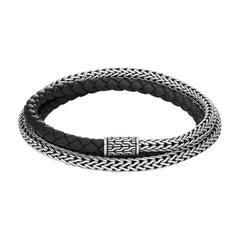 John Hardy Men's Classic Chain Silver Triple Wrap Bracelet BM90263BLXM