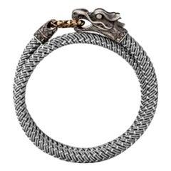 John Hardy Men's Legends Naga Silver Double Wrap Bronze Ring Bracelet