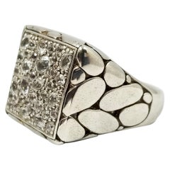 John Hardy Men's White Sapphire Kali Ring