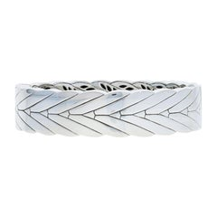 John Hardy Modern Chain Bracelet, Sterling Silver Wide Hinged Bangle