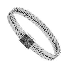 John Hardy Modern Chain Bracelet with Black Spinel BBS932694BNXM