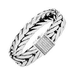 John Hardy Modern Chain Bracelet with Diamonds BMP9995362DIXM
