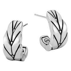 John Hardy Modern Chain Small J Hoop Earring EB94000