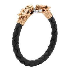 John Hardy Naga Double Dragon Head Bracelet BMS65089OZBLBONX