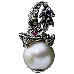 John Hardy Naga Dragon Pearl Pendant