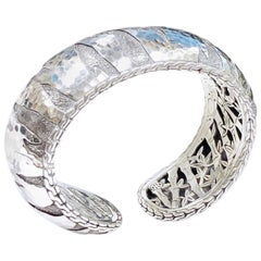 John Hardy Palu Macan Large Silver Cuff Bracelet