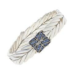 John Hardy Sapphire Modern Chain Bracelet, Sterling Silver Designer