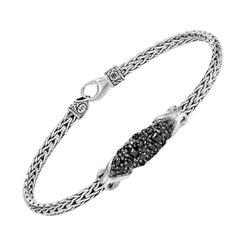 John Hardy Station Bracelet with Black Sapphire BBS903464BLSBNXM
