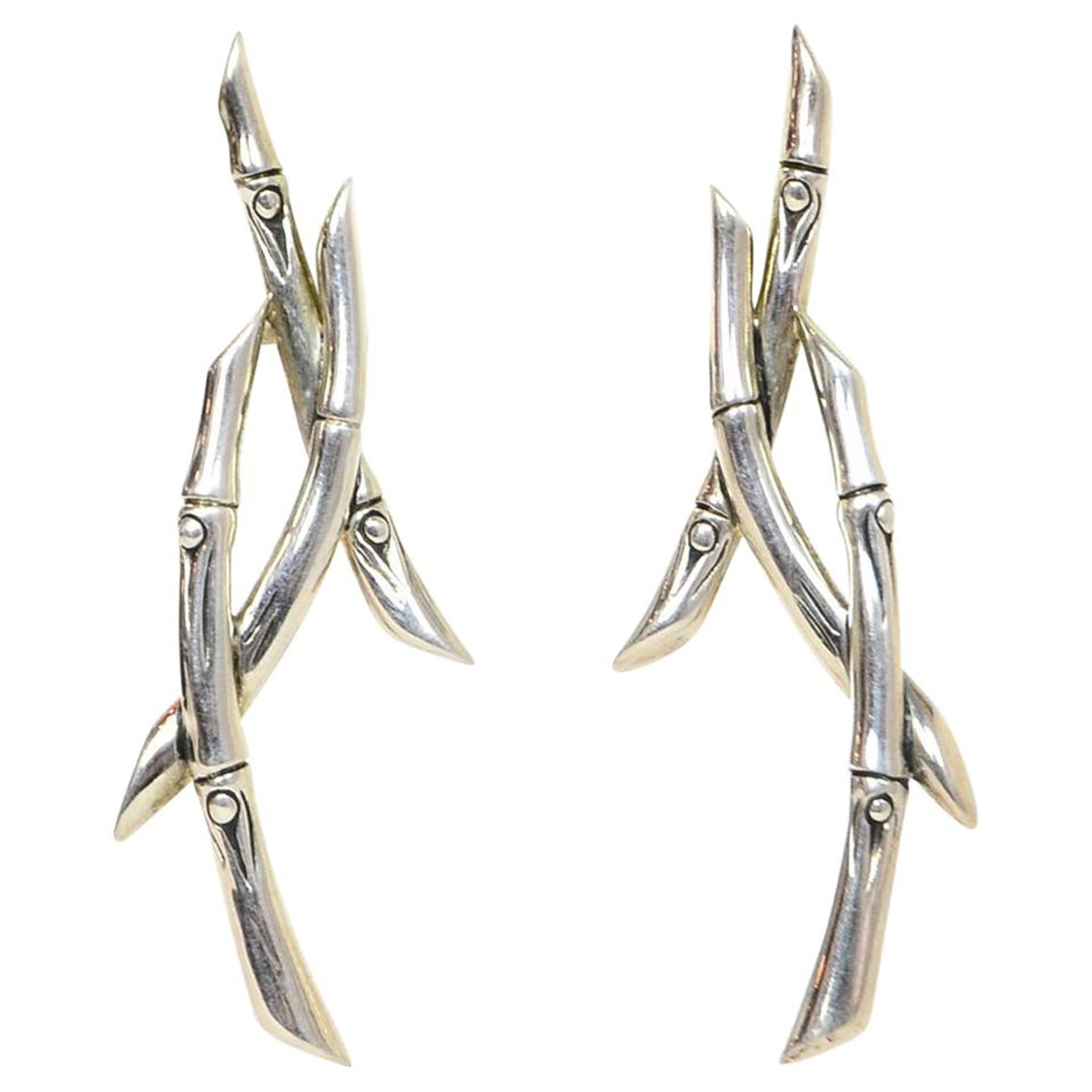 858e3ca7a John Hardy Sterling Silver Bamboo Stud Earrings For Sale at 1stdibs