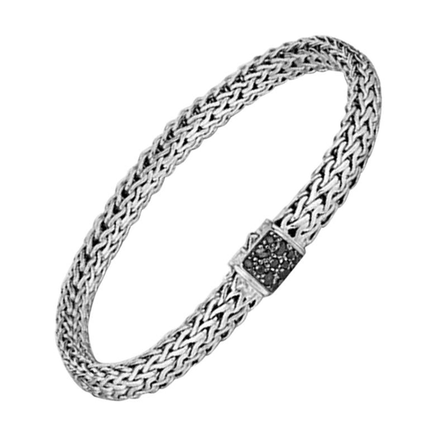 ed47fc8bc John Hardy Sterling Silver Black Sapphire Classic Chain Medium Men's  Bracelet For Sale at 1stdibs