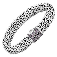 John Hardy Sterling Silver Classic Sapphire Bracelet
