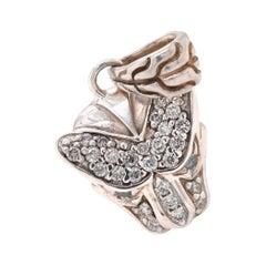 John Hardy Sterling Silver Diamond Panther Pendant