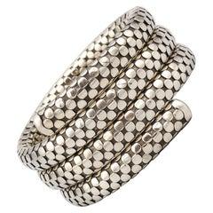John Hardy Sterling Silver Dot Coil Bracelet