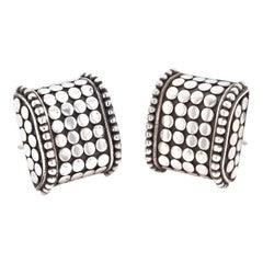 John Hardy Sterling Silver Dot Collection Earrings