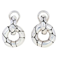 John Hardy Sterling Silver Earrings, 925 Kali Small Door Knocker Pierced