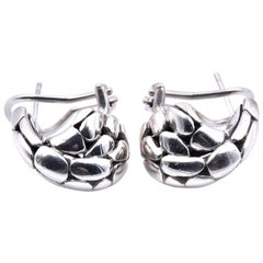 John Hardy Sterling Silver Kali Collection Buddha Belly Earrings