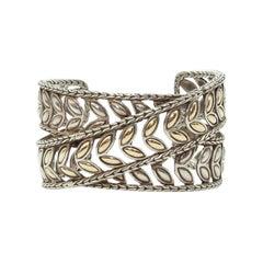 John Hardy Sterling Silver Leaf Cuff Bracelet