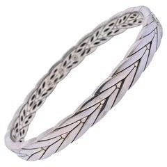 John Hardy Sterling Silver Modern Chain Bangle Bracelet